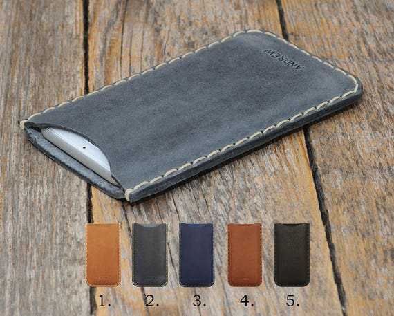 CAT S41 S31 S60 ENGRAVE YOUR Name or Text Case, Personalised Pouch. Handmade Cover Genuine Real Leather Shell Sleeve Rough Vintage Style