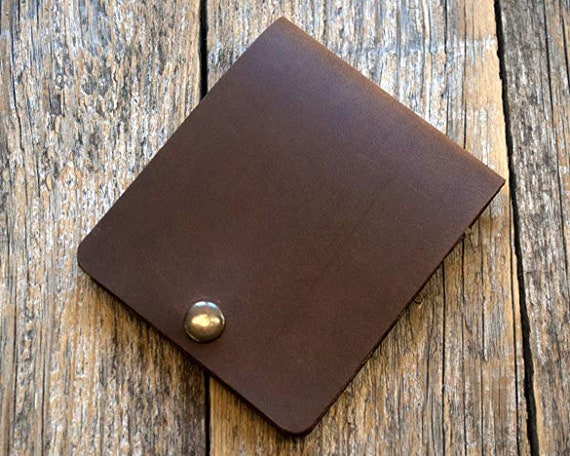 Italian Leather Wallet. Handmade in Europe. Brown Credit Card, Cash or ID Holder. Rustic Style Unisex Pouch
