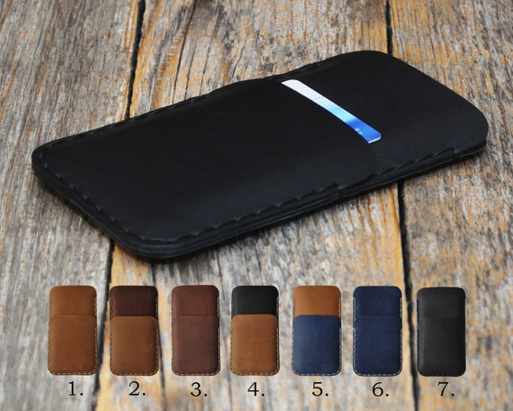 Microsoft Lumia 650 950 XL 550 540 Dual Case Cover. Genuine Waxed Leather Sleeve. Rough Vintage Style Pouch Wallet Custom Sizes