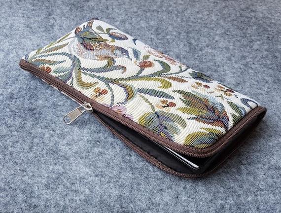 Beautiful Garden Birds Print, Case for Google Pixel, 4a XL 3a 3 2, Mini Bag Cover with Zipper, Strong Upholstery Fabric Clutch, Purse Wallet