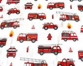 Firefighters cotton fabric 50x70cm