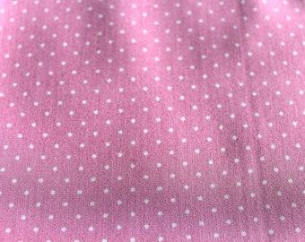 Pink and white 50 * 70 cm polka dot fabric coupon