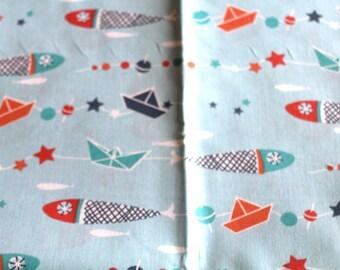 Fabric coupon 50 x 70 cm marine theme