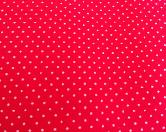 Red and white 50 * 65 cm polka dot fabric coupon