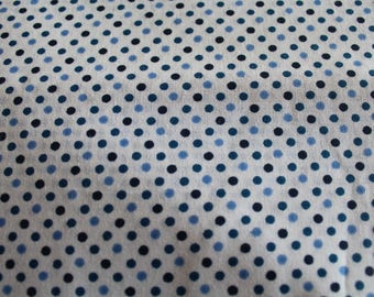 Blue and white 50 * 70 cm polka dot fabric coupon