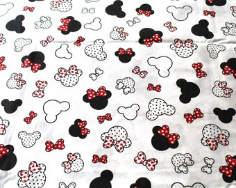 Red Minnie fabric coupon 49x70 cm