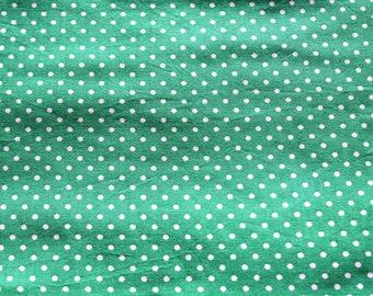 Green and white 50 * 70 cm polka dot fabric coupon
