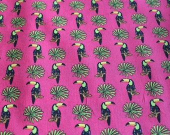 Coupon fabric toucan 50 x 70 cm tropical theme