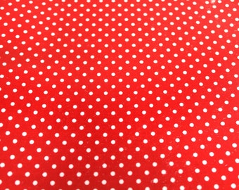 Red and white 50 * 70 cm polka dot fabric coupon