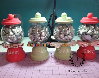 Made to Order Candy Holders/Teacher Appreciation/Administrative Professionals Day/Gifts for Her/Personalized/Candy Dispenser/Party Favors