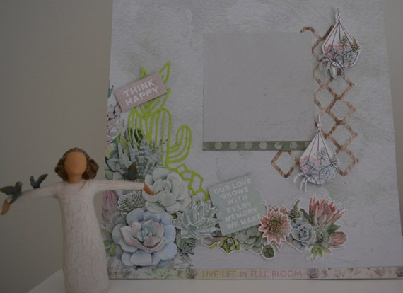 Live Life in Full Bloom Scrapbook Page Kit
