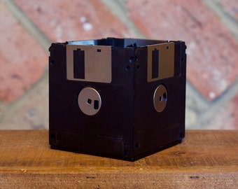 Recycled Floppy Disk Desk Tidy (Black)