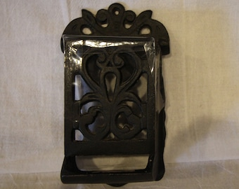 Vintage Cast Iron Match Holder