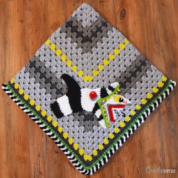 Beetlejuice Inspired Sandworm Applique Crochet Pattern 80s Etsy