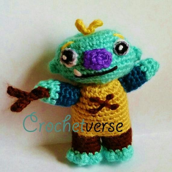 Wallykazam Crochet Pattern Amigurumi Doll Toy Pdf Not Finished Item