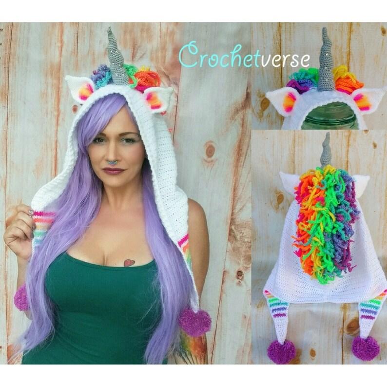 8cdccc315950d Crochet Unicorn Hood Pattern Ode to Artax Halloween Costume