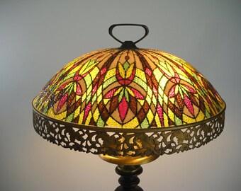 Vintage Reverse Painted Lamp