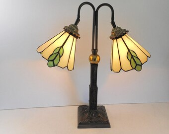 Double Stained Glass Lamp Table Lamp