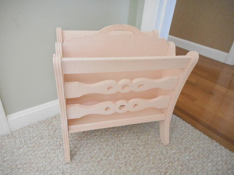 Decorative Wood Magazine Holder Light Pink Magazine Rack
