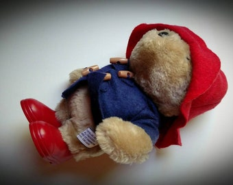 932545e1b0be0e PADDINGTON BEAR 1981 wind up pluche met verbazingwekkende detail teddybeer  Blue Jacket Red Hat en laarzen