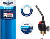 BernzoMatic Basic Torch Plumbing Kit blowtorch propane solder flux for soldering, crafting melting, heating WPK2301