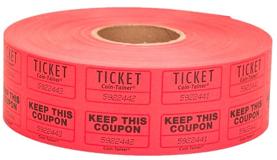 red 2000 double roll numbered raffle tickets and keep this etsy