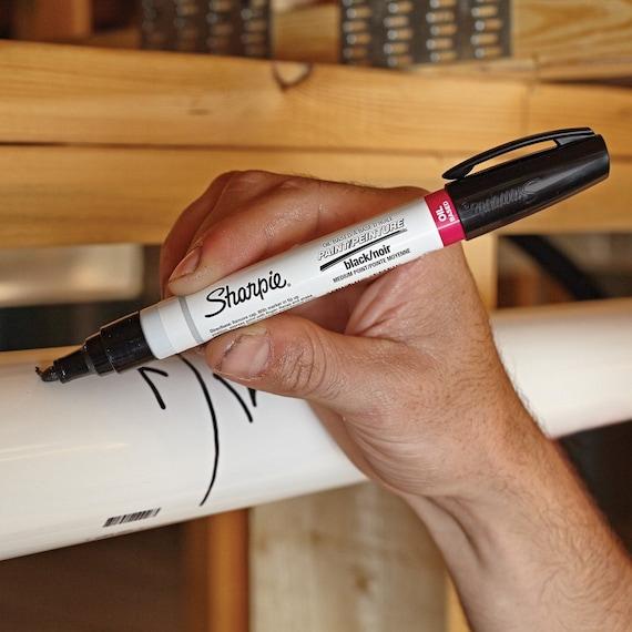 Black Sharpie Paint Marker Bold Large Tip Pen Oil Based UK STOCK FAST DELIVERY