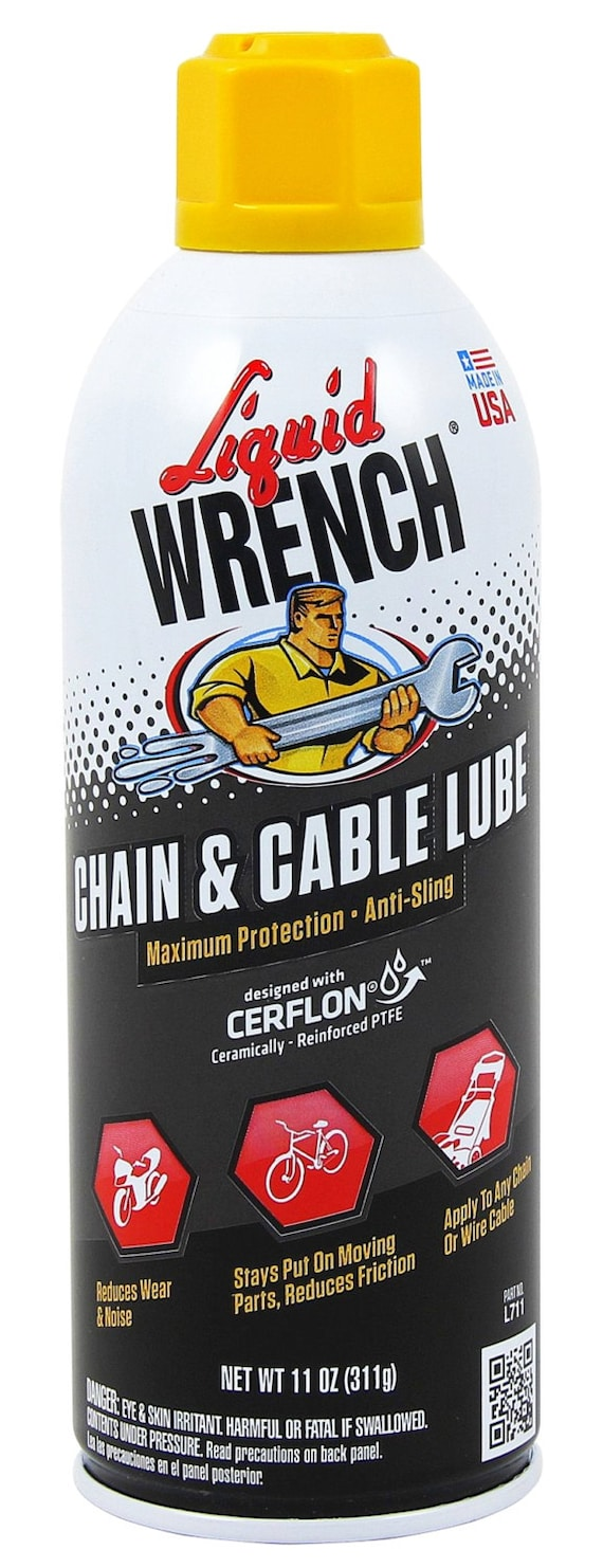 Liquid Wrench Chain Cable Lube Oil 11 Oz Aerosol Spray Etsy