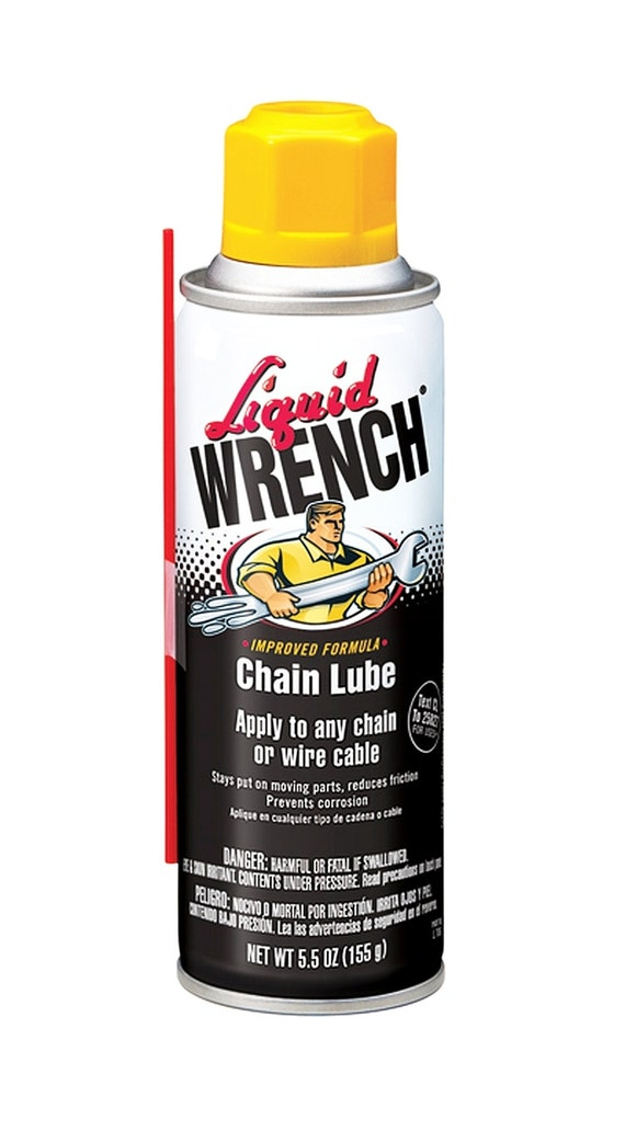 Liquid Wrench Chain Lube Oil 5 12 Ounce Aerosol Spray Lubricant