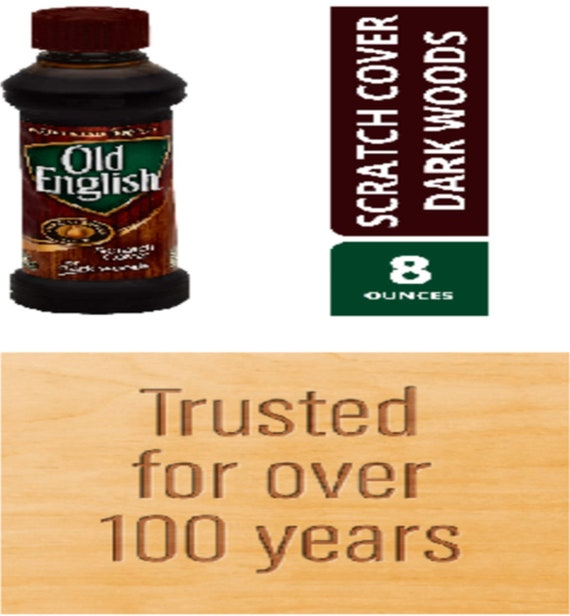 Scratch Cover Liquid For Dark Woods, Old English 8 Ounce Dark Wood Furniture Polish And Scratch Cover