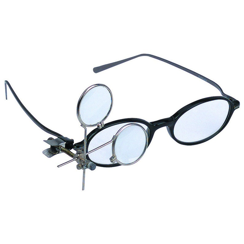 3a57259837b7 Dual Glass Lens Magnifying CLIP ON MAGNIFIER 3.3x 5x 16.5x