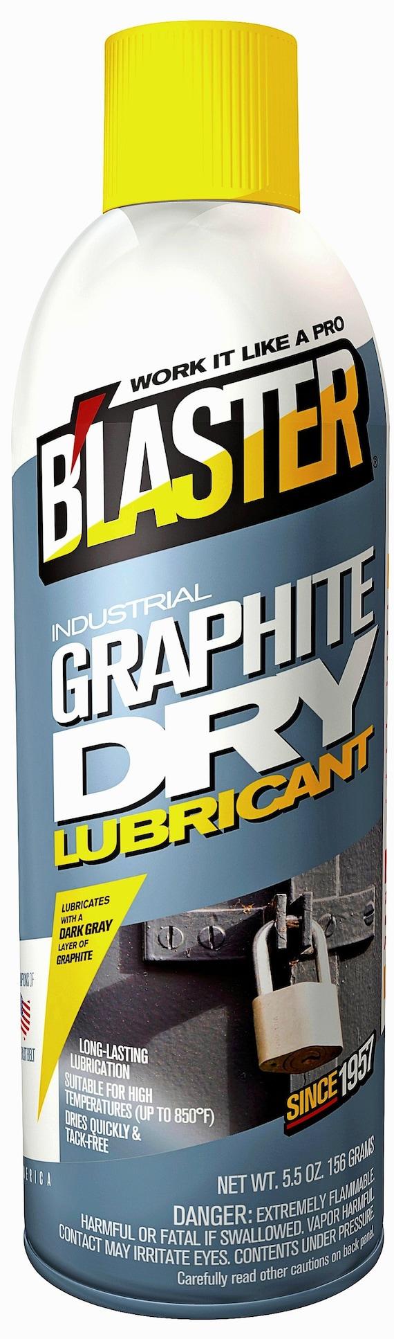 Blaster GRAPHITE Dry aerosol spraY Lubricant Lubrication for rubber metal  wood plastic locks chains roller threads anti seize B'LASTER 8-GS