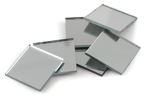 24 Mirror Tile Small Squares 1 X 1 Inch Square Etsy