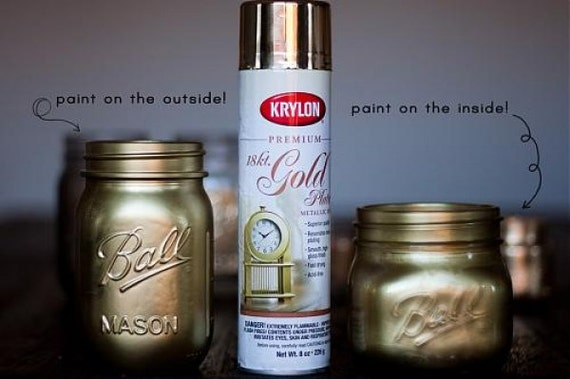 18 Karat Premium Gold Plate Metallic Finish Spray Paint Etsy