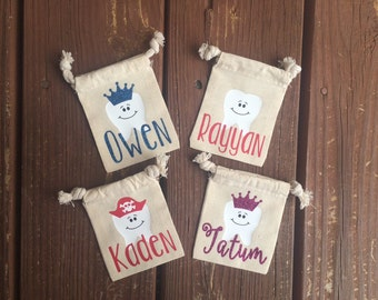 Personalized Tooth Fairy Bag, Tooth Fairy Pouch, Tooth Holder, Toothfairy, Kids Gift