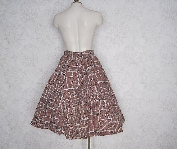 1950s Full Cotton Circle Skirt / Vintage Hawaiian… - image 4