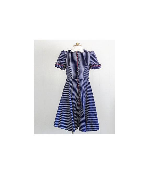1940s Vintage Cotton Day Dress / Kenrose '40s '50s