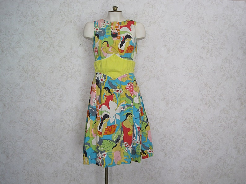 e9e14913d171 Vintage Lilly Pulitzer Dress / 1960s The Lilly Novelty Print   Etsy