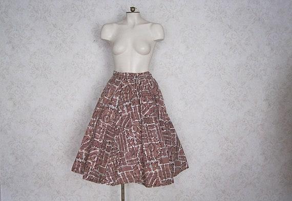 1950s Full Cotton Circle Skirt / Vintage Hawaiian… - image 5