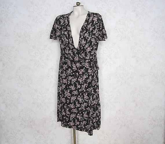 1920s Vintage Dress / 20s 30s Volup Vintage Floral