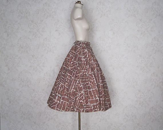 1950s Full Cotton Circle Skirt / Vintage Hawaiian… - image 3