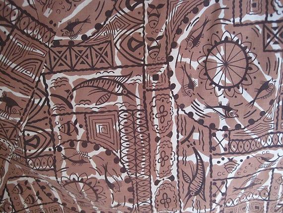 1950s Full Cotton Circle Skirt / Vintage Hawaiian… - image 7