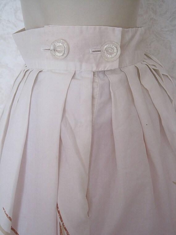 Vintage Novelty Print Skirt / Full 1950s Cotton N… - image 6