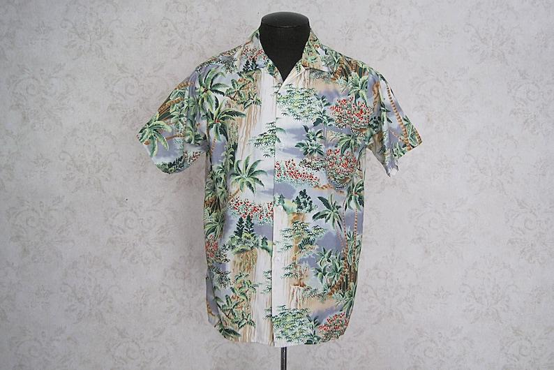 239a26110b5c Vintage Hawaiian Shirt / 1950s Rayon Hawaiian Shirt / Loop   Etsy