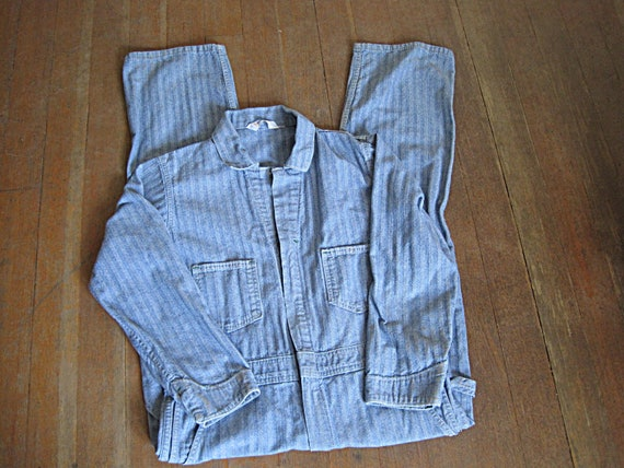 Vintage Coverall / 1960s Key Imperial Denim Covera