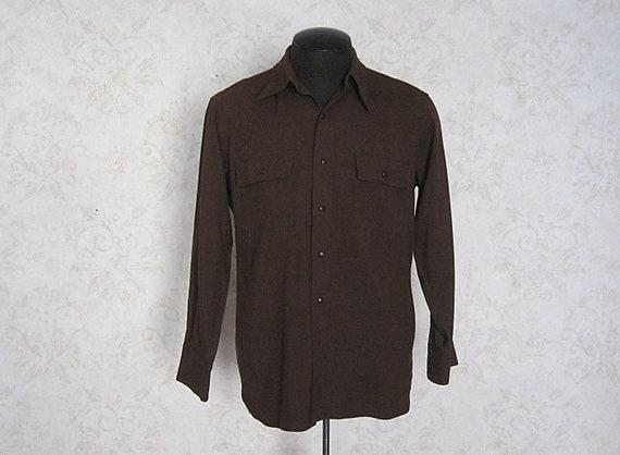 1940s Vintage Gabardine Western Shirt / Liondale W