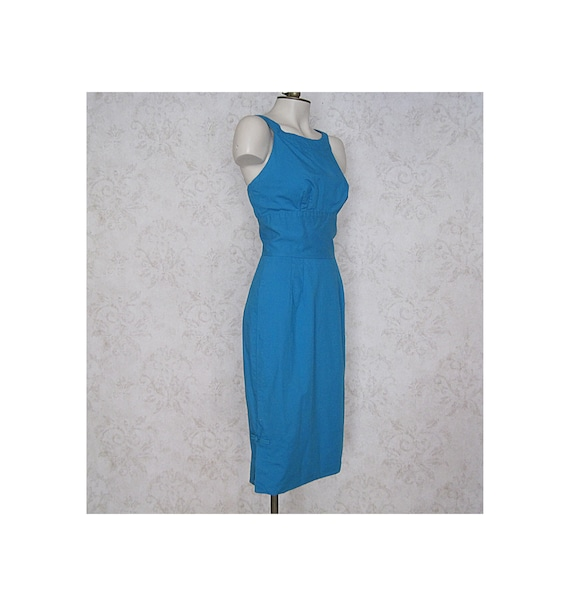 1950s Vintage Alfred Shaheen Dress / '50s Wiggle D