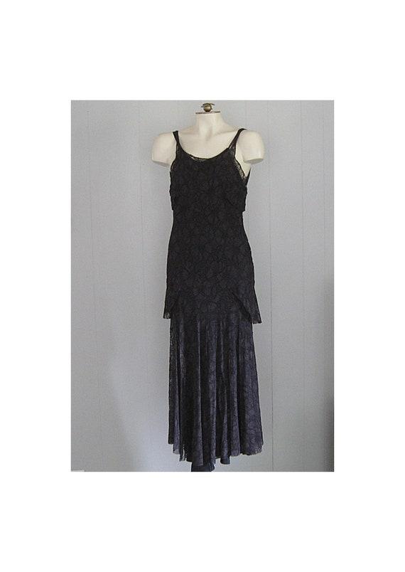 Vintage 1930s Bias Cut Lace Dress / 20s 30s Vintag