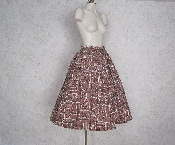1950s Full Cotton Circle Skirt / Vintage Hawaiian… - image 2