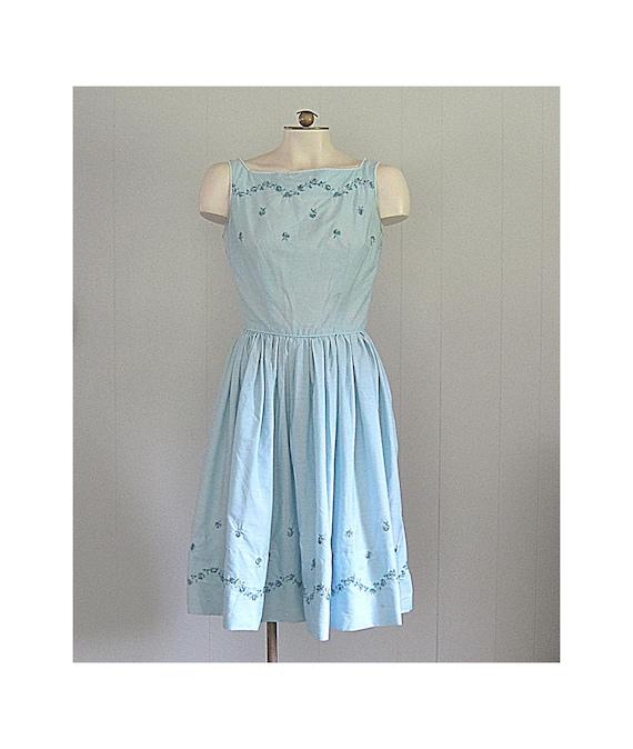 Vintage Floral Cotton Summer Dress / 1950s '60s Jo